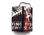 Shaving Kit Bag - Travel Bag - Repurposed Vinyl Banner Bag - DOPP Kit Bag
