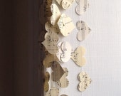 Horizontal Vintage Sheet Music Paper Heart Garland - 10, 15, or 20 Feet Long - READY TO SHIP - Valentine's Day Gift or Decoration