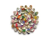 Colorful Notes Vertical Paper Heart Garland - Vintage Sheet Music Paper Heart Garland - READY TO SHIP - Valentine's Day Gift or Decoration
