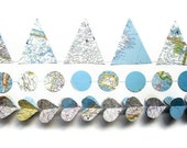 Handmade Party Supplies - World Map Garland Assortment - Classroom Decorations - Atlas Banners - Complete Going Away Party Decorations Kit