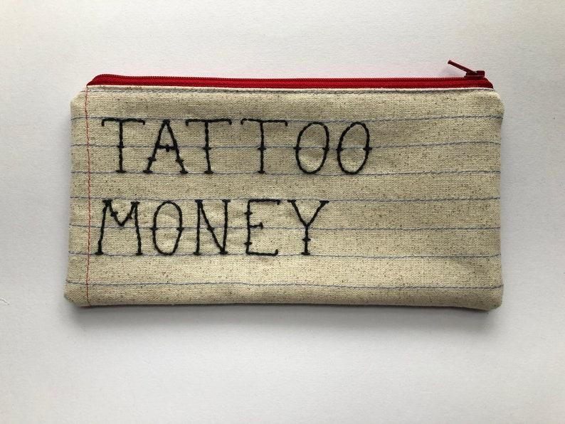 Tattoo Money Zipper Pouch