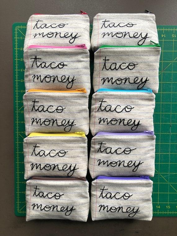 Wholesale Taco Money Bag Case Pack of 10