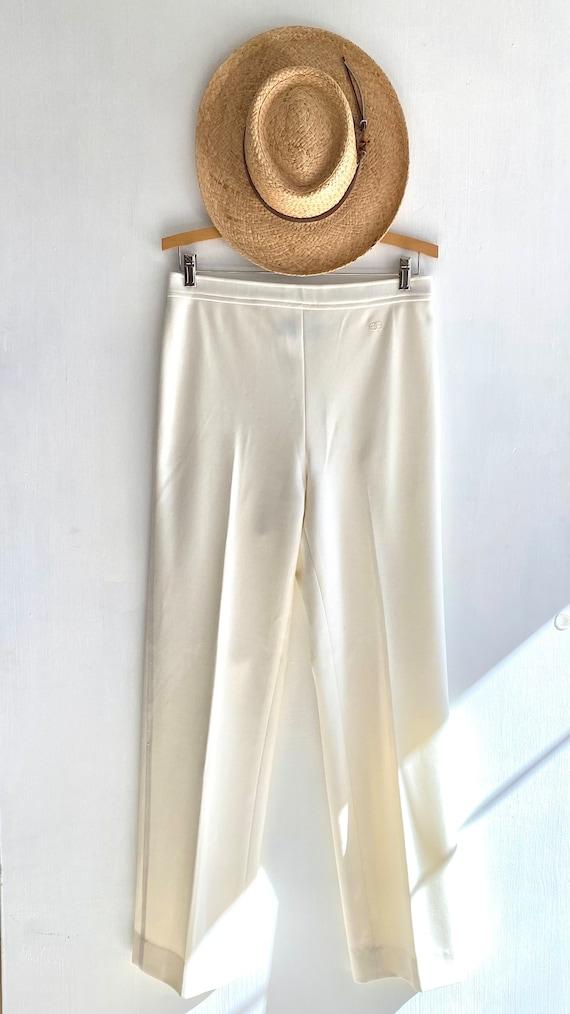 GIVENCHY PANTS . Vintage 70s Polyester Stretch Kn… - image 3