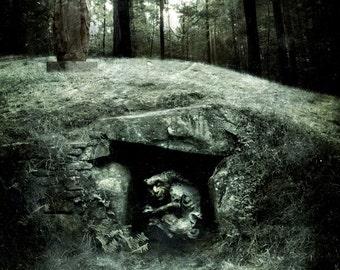 Earth spirit 2 - dolmen - A4 illustration PRINT