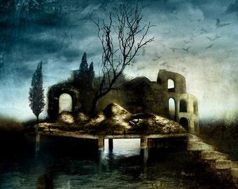 Isola del silenzio - silence island A4 illustration PRINT- signed