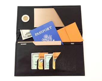 f14bf053e21ed Skórzane podróży portfel - okładka na paszport - naturalnej skóry portfel  męski portfel damskie - karnet - paszportu posiadacza Vintage portfele