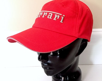 e31e80ec9f4 Ferrari Pit Crew Hat - Vintage Formula One Race Car Hat - Baseball Hat -  Ferrari Model Car Trucker Cap - Trucker Hat - Baseball Cap - Nascar