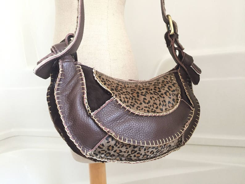0b38ee2c21f7 Danier Leather Purse - Leather Shoulder Bag - Vintage Leather Handbags -  Hippie Bag - Bohemian Purse Leather Boho Chic Caveman Carryall Bag