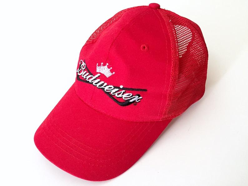 Budweiser Baseball Hat Trucker Cap Beer Hat with Mesh  4203e6dbbf49
