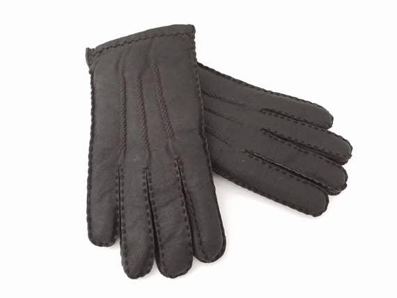 9e5578081 Mens Winter Gloves - Mens Gloves Leather - Leather Gloves for Men - Size  Medium to Large - Mans Gloves Men - Driving Gloves Work Gloves
