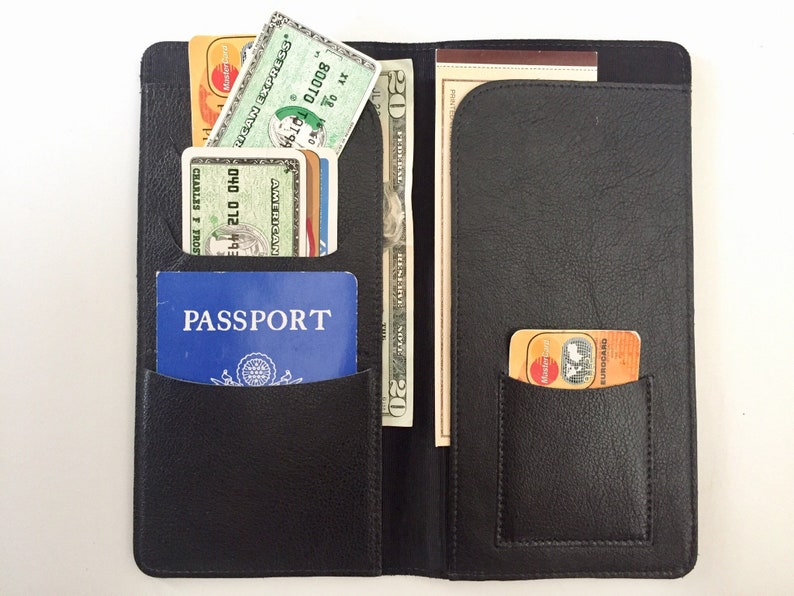 a44bd83f1 Leather Travel Wallet Passport Cover Mens or Womens Wallet