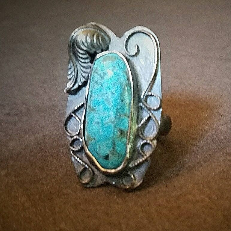 Kingsman Turquoise Sterling Silver Boho Statement Ring, Boho Jewelry ...