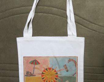 Sun  library  book bag