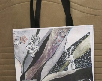 Alice in Wonderland tote-bag