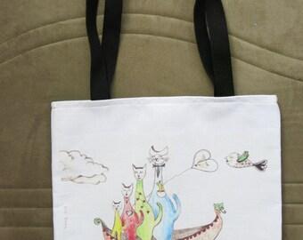 Sailing - Cats Tote Bag