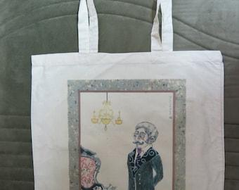 Man-and-Cat  Tote Bag