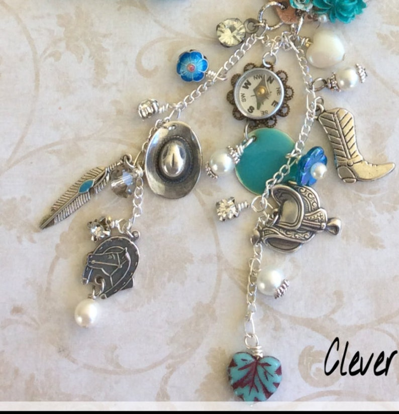 Cowgirl Charm Necklace Set I Love Horses Horse Jewelry Handmade Jewelry Cowgirl Chic Cowgirl Up