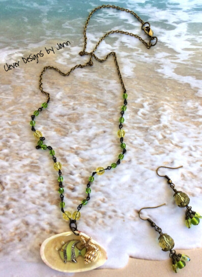 Fish Shells SALE Beach Shell Necklace