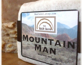 Man SOAP - MOUNTAIN MAN - Exfoliating Soap Bar with Organic Oils and Shea Butter by Man Cave Soapworks