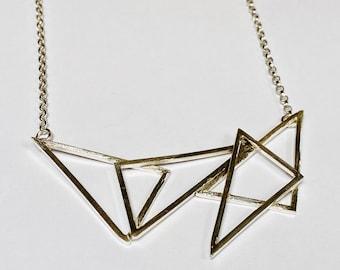 Sterling silver handmade abstract necklace, Hallmarked in Edinburgh
