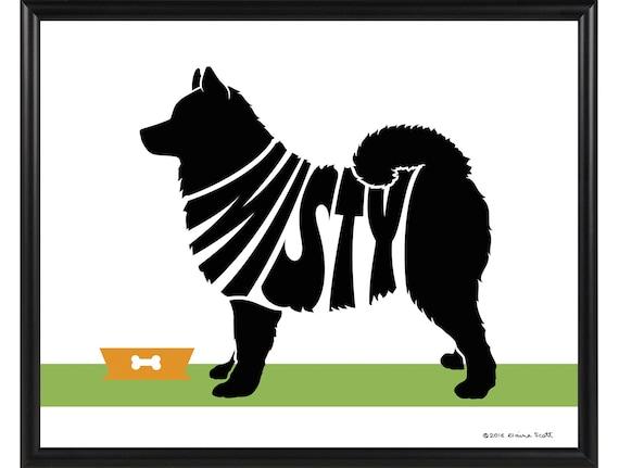 Terrier Wall Art Framed 8x10 Dog Name Art Personalized Bull Terrier Silhouette Print