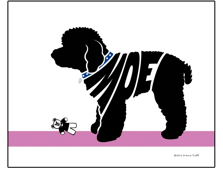 Personalizados Toy Poodle silueta impresión perro raza nombre | Etsy