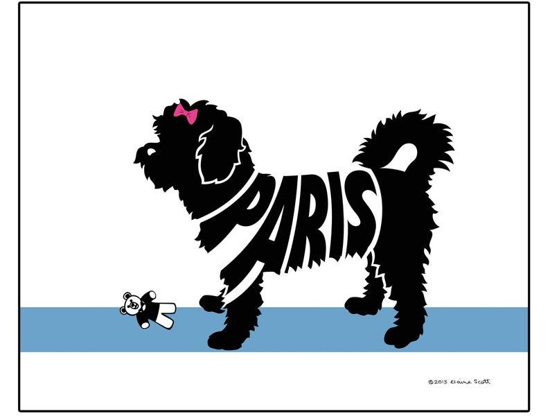 Personalized Shorthaired Maltese Print, Maltese Silhouette Name Art, Dog  Lovers Gift, Dog Memorial Gift