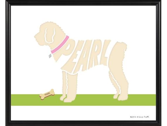 Personalized Shorthaired Maltese Print Framed 8x10 Short Cut Maltese Name Art
