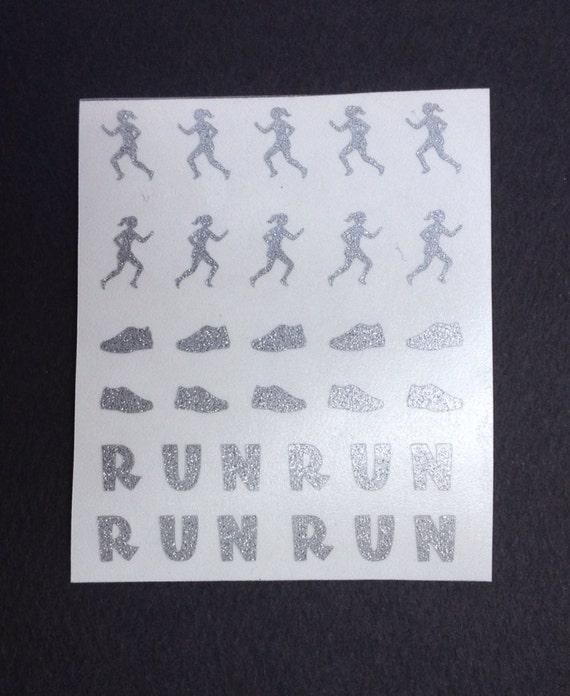 Runner Running Track Toe Nail Finger Nail Art Tattoos Etsy