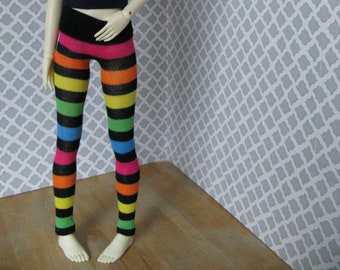 Rainbow striped BJD leggings for SD 13 ball-jointed dolls