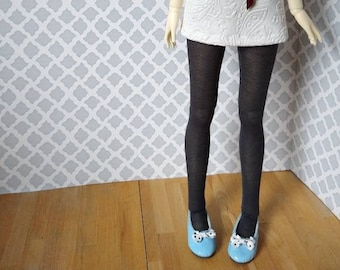 BJD tights grey navy blue chevron textured for SD 13 ball-jointed dolls