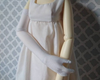 Long white gloves for SD ball jointed dolls