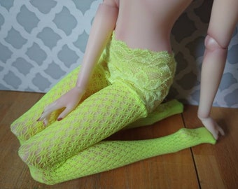 """Limited edition lace top tights for 16"""" fashion dolls, MSD ball-jointed dolls"""