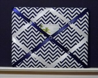 11 x 14 Blue/White Chevron Memory Board