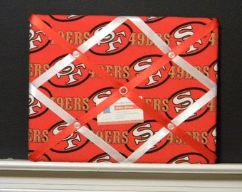 11 x 14 San Francisco 49ers (Red) Memory Board