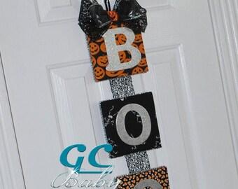 Halloween Upholstered Wall Decor - Halloween Door Hanging - Creepy Spider Decoration- Halloween Fabric Decor