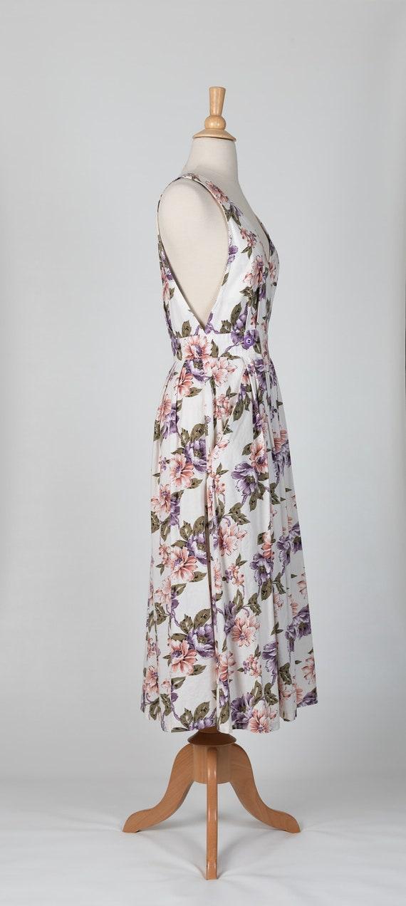 floral midi dress | 80s floral dress - image 4