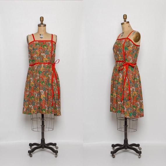 vintage 1950s dress | floral print sundress
