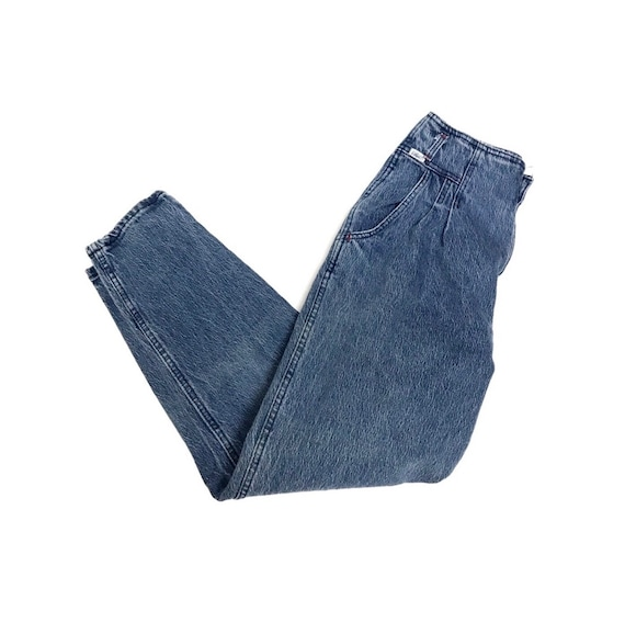Vintage 80s Chic pleated jeans high rise denim