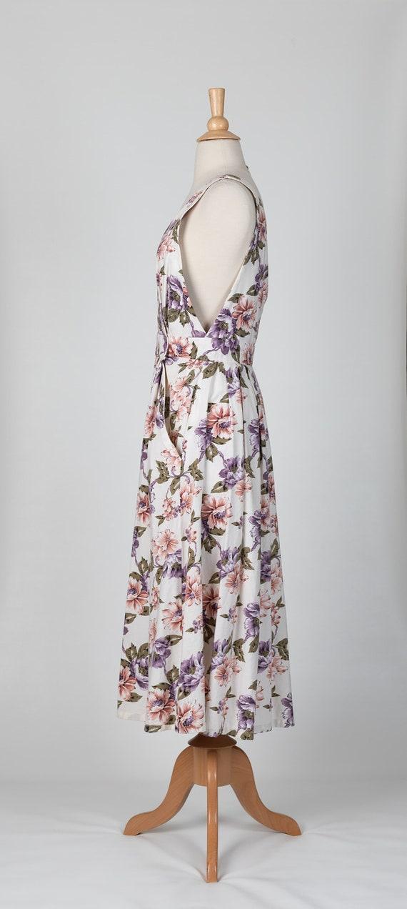 floral midi dress | 80s floral dress - image 5