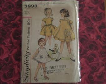 60's Vintage Childs Simplicity Pattern