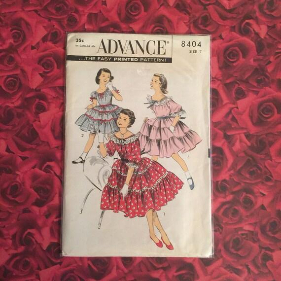 1950s Vintage Advance Sewing Pattern Etsy