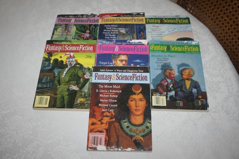 Seven 7 Vintage Fantasy & Science Fiction Magazines Sci Fi Fantasy Science  Fiction, 1996