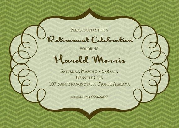 Masculino Con Dibujos Para Imprimir Tarjetas Invitación Fiesta Cumpleaños Jubilación Ducha Almuerzo Anuncio