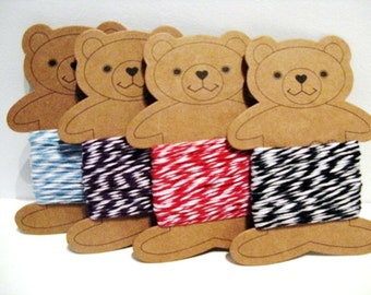 Baker's twine - 10 metres with bear bobbin - choose your colour