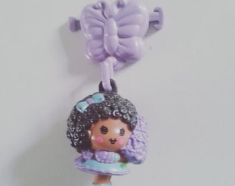 Hyacinth, Hyacinthia, with clip, Charmkins, hasbro, vintage toy, excellent condition,  used, lilac, purple, 1983, 80s, by NewellsJewels