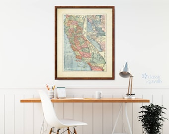 California Map Art Etsy