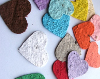 Shower and Party Decoration Eco Friendly Plantable Paper Heart Confetti Wedding 200 Small Hearts in Your Choice of Colors
