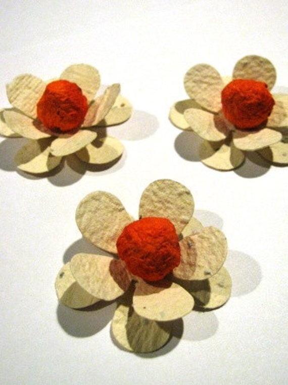 50 plantable paper flowers homemade paper mixed with seeds etsy image 0 mightylinksfo