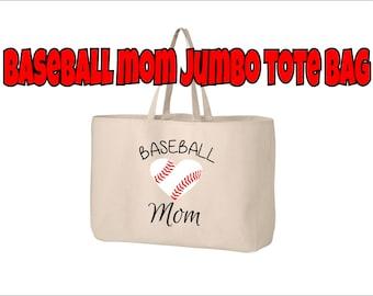 Baseball Mom Tote Bag, Baseball Tote, Baseball Mom Bag